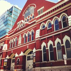 The Ryman Auditorium - Nashville, Tennessee where many country singers got their start in the profession.