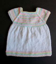 Knitting Patterns Galore - Starting Out Baby Dress
