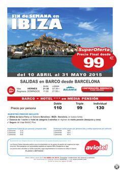 Superoferta fin de semana IBIZA Abril a Mayo barco+hotel desde 99 euros ultimo minuto - http://zocotours.com/superoferta-fin-de-semana-ibiza-abril-a-mayo-barcohotel-desde-99-euros-ultimo-minuto/