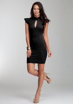 bebe | Nikki Flutter Dress