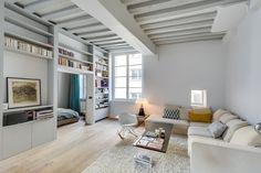 Appartement Paris : Salon industriel par Meero