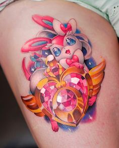 Sorry for my absence. Dealing with personal issues. I'll spare y'all the details. Here's sylveon. Thanks for your support everyone 🙏🏽 Done… Tattoos With Kids Names, Small Tattoos, Cool Tattoos, Nerdy Tattoos, Skull Tattoo Design, Tattoo Designs, Tattoos Infinity, Bright Tattoos, Cute Tats