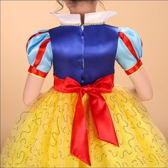 Branca de neve Princesa Vestidos Crianças Meninas Imprimir Vestido Cosplay para o Traje de Halloween Roupas de Festa vestidos de menina