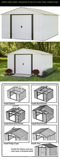 Arrow Shed AR1012  Arlington 10-Feet by 12-Feet Steel Storage Shed #& #plans #tech #shopping #storage #fpv #drone #sheds #kit #technology #parts #outdoor #10x12 #racing #gadgets #camera #products