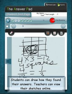 Kleinspiration: Turn your iPad into a Clicker for Students! (kids can draw their answers and submit to you automatically) - so cool!