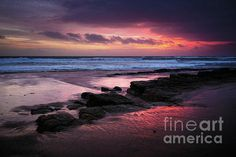 """#Beach Winter #Sunset 1"" by Carlos Caetano #CoastalArt"