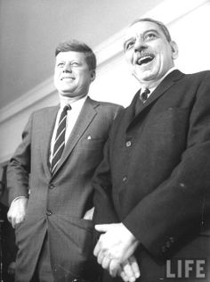 Pres. John F. Kennedy with Luis Munoz Marin (R), Governor of Puerto Rico. Location:US Date taken:1961  ❤❤❤❤❤  http://en.wikipedia.org/wiki/John_F._Kennedy