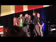 Chicago Supernatural Con 2014: Jensen, Richard, and Louden Swain singing...