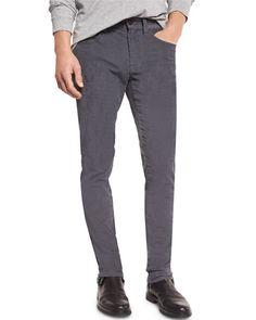 718 Slim-Fit Skinny Corduroy Pants, Pewter