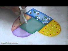 Miniaula de pintura em tecido imitando Patchwork - Parte II
