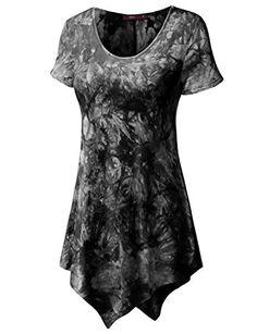 Doublju Women Unique Designed Printed 3/4 Sleeve T-Shirt BLACK,XS Doublju http://www.amazon.com/dp/B00ZWC7YIM/ref=cm_sw_r_pi_dp_jH2awb11AT95F