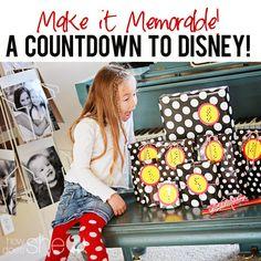 Countdown to Disney! Dollar Store disney gifts 1 gift each day 10 day countdown Disney 2015, Disney Tips, Disney Love, Disney Magic, Disney World Vacation, Disney Cruise, Disney Vacations, Orlando Vacation, Walt Disney