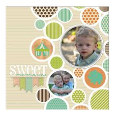 A sweet 12 x 12 wrapped canvas. #DIY with Heritage Makers template 106196. #digiscrap