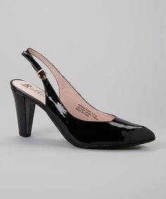 Another great find on #zulily! Black Patent Panama Leather Slingback by Bellini #zulilyfinds