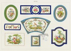 A collection on antique prints from The Soft Porcelain of Sevres, with an historical introduction by Edouard Garnier 1889 Vintage Labels, Vintage Posters, Minis, Pottery Marks, Paper Crafts, Arts And Crafts, Shabby, Victorian Dolls, Dollhouse Accessories