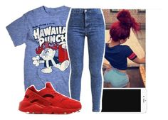 """""""hawaiian punch"""" by aribearie ❤ liked on Polyvore featuring Archer, Miss Selfridge and NIKE"""
