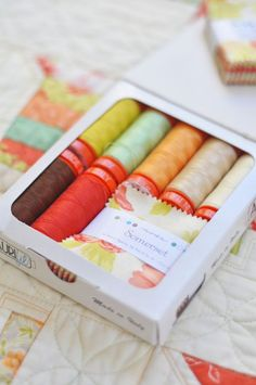 Somerset by Fig Tree and Aurifil thread kits!! Yummy!