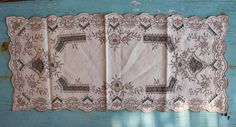 Vintage Table Runner Doily Table Mat Greek by BelladonaVintage