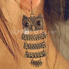 USD $ 1.39 - Women's European and American fashion wild retro owl Earrings E38
