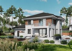 Projekt domu APS 274+2G 170,1 m2 - koszt budowy - EXTRADOM Home Fashion, Mansions, House Styles, Home Decor, Mansion Houses, Decoration Home, Manor Houses, Villas, Fancy Houses