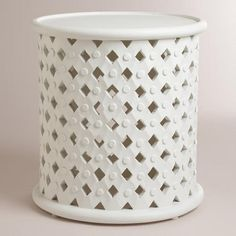 Need to Spruce Up Your Space for Fall? Check out our White Tribal Carved Accent Table from Cost Plus World Market's Desert Caravan Collection. >> #WorldMarket Home Decor Ideas, Fall, #SpruceUpYourSpace