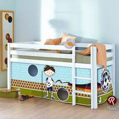 Tolles Fußballbett für das Kinderzimmer. Kinderbett viele