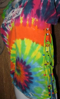 Upcycled TieDyed Paradise Tshirt Reconstructed and by LoriSmith1, $25.00