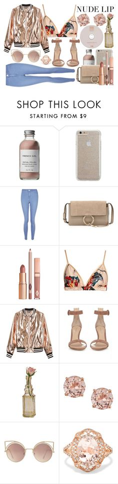 """""""Nude Lips"""" by xoangel33 ❤ liked on Polyvore featuring beauty, French Girl, Case-Mate, New Look, Chloé, Katie Eary, Sans Souci, Gianvito Rossi, Cultural Intrigue and MANGO"""