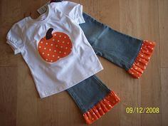 Custom Boutique Halloween Polka Pumpkin by BPandJellyBoutique