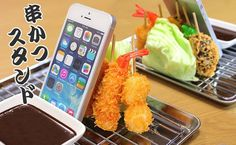 大阪名物「串カツ」に「タコせん」が食品サンプルスマホスタンドとして新登場! 日本の食品サンプル屋さんが本気で作った大阪の味、こいつはウマイ!いやスゴイ! [ リリース配信・広報支援サービス PR NAVi | 企業の最新リリースを紹介 ]