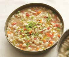 White Bean and Pasta Soup from Epicurious.com #myplate #protein