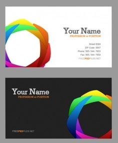 the delicate color wheel business card psd layered