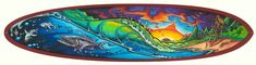 Article featuring surfboard art ideas for surfers, including examples of some of the best sprays we could find. Surfboard Art, Surf Art, Decorative Bowls, Surfing, Surfboards, Art Ideas, Inspiration, Design, Biblical Inspiration
