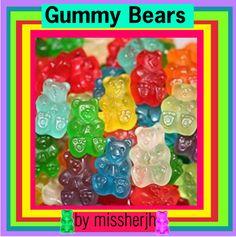 """Gummy Bears Logo"" by missherjh ❤ liked on Polyvore"