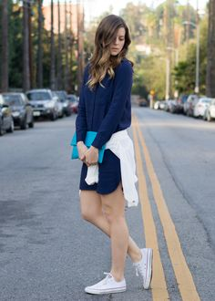 Wearing @Madewell dress, @Becky Carver GAL bomber and @Converse sneakers <3