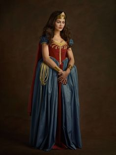 Wonder Woman -- 16th century cosplay for DC Comics, Star Wars, and more:  Sacha Goldberger - Paris Photo Grand Palais
