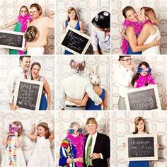 Use a chalkboard in your photobooth for guest messages. Capture pics instantly with ourphotoopp.com and they will be added to your album!