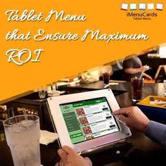 Tablet Menu Solutions to Impress Your Customers! Know more here: http://www.imenucards.com/  #imenu #tabletmenu #digitalmenu #restaurant