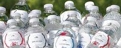 Garrafinhas de água personalizadas: must-have no casamento caseme