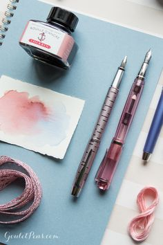 Write with fountain pens, ink, and notebook inspired by Patone's Color of the Year 2016!
