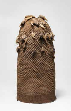 Prestige Cap (Mpu)19th century Geography: Democratic Republic of the Congo; Republic of the Congo; Cabinda, Angola Culture: Kongo peoples Medium: Raffia or pineapple fiber, leopard claws