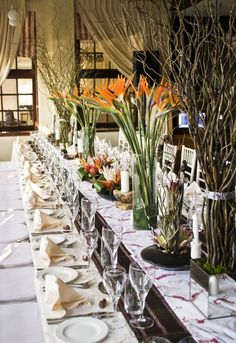 Wedding decor in Durban : African wedding  http://www.lemontreeconcepts.co.za