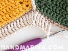 Салфетка из мотивов или небольшой плед. Crochet - a small towel or plaid