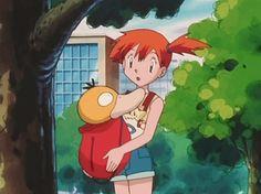 Misty, Psyduck, and Togepi Old Pokemon, Pokemon People, Cute Pokemon, Pokemon Fan, Pokemon Indigo League, Misty From Pokemon, Ash And Misty, Pokemon Images, Tsundere