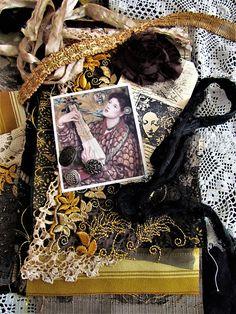 Fabric and Embellishment Inspiration Kit Textile Art Kit