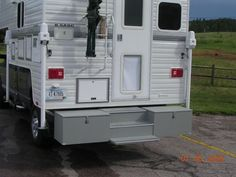 RV.Net Open Roads Forum: Truck Campers: requested truck tool box back porch pics