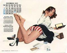 """""""Vulgares para a época, porém inocentes em seu olhar, as Pin-Ups chamaram atenção por seu pequeno volume de roupas e grande quantidade de curvas e sensualidade, destacando sempre em suas faces um tom brincalhão e sorridente, abrilhantando os quartéis e oficinas de mecânico das décadas de 40 e 50, sendo invejadas pelas típicas mulheres donas de casa e endeusadas pelos homens, os quais viam nelas seu esteriótipo de mulher ideal: sexy, simpática e bem-humoradas."""""""