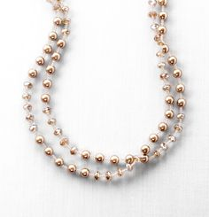 pearl and rondelle necklace
