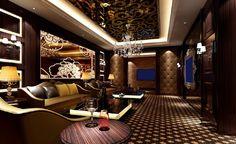 KTV room lighting 3D rendering