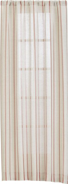 Pippa Persimmon Curtain Panels  | Crate and Barrel For Master BR with striped duvet cover